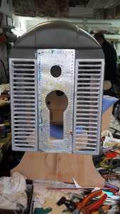 radiador ahuecado y mascara