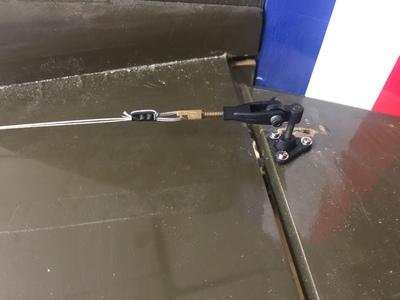 montaje doble tiro estabilizador cable acero 60 lbs